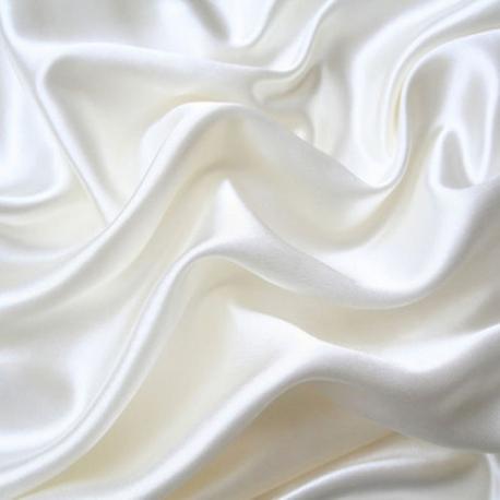 Výprodej Šifon/Satén - bílý